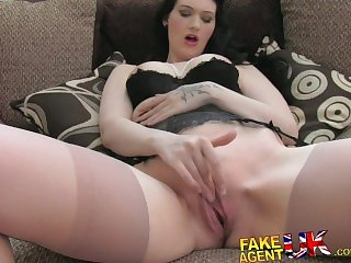 FakeAgentUK Amateur brit girl shows impressive deep throat skills