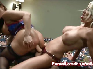 Puma Swede Delivers a Big Strap On!