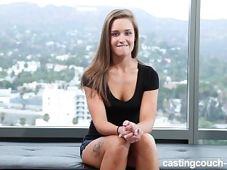 Cute Amateur June Gets Huge Black Cock On CastingCouch-HD