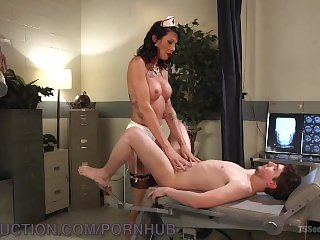 Sexy TS Nurse Seduces College Student