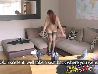 FakeAgentUK Shaven pussy fucked in fake casting
