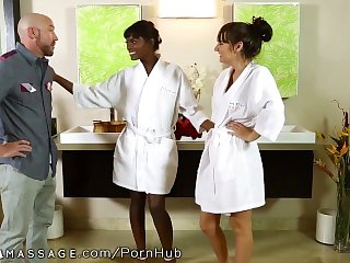 NuruMassage 2 Babes Take Him to Oily Finish