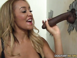 Gloryhole Blowjob and Fucking with Tinslee Reagan