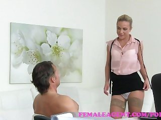 FemaleAgent Muscular studs cock pleasures agent