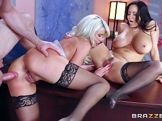 Brazzers - Sexy threesome in the office