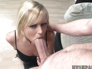 Hot Blonde takes Biggest cock!