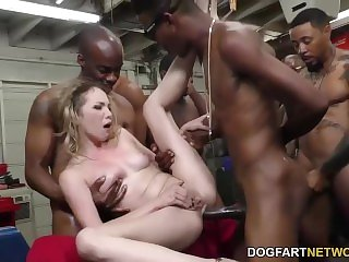 Angel Smalls gets Gangbanged by BBC's