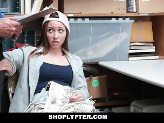 Shoplyfter - Cute Teen Fucks Her Way Out Of Trouble
