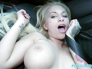 Public Agent Beautiful blonde fucks on backseat