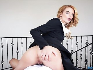 Blonde Teen SIster Nun Fucks Priest POV on BaDoinkVR.com