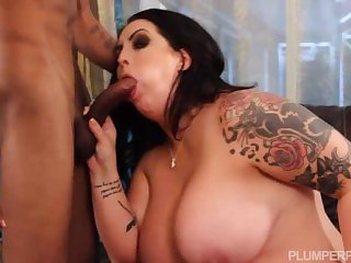 Sexy Busty Plump MILF Seduces Sons Black Friend