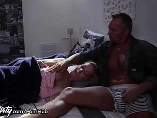 Pervy Dad Feels up Daughters Teen Friend