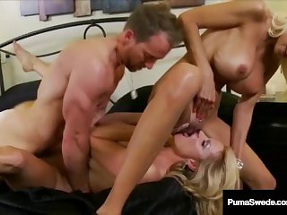 Busty Babe Puma Swede & Kelly Madison fuck Hubby in a 3 Way!