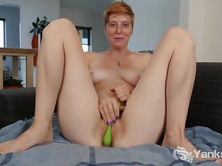 Redhead Girl From Yanks Aurora Odaire Masturbates