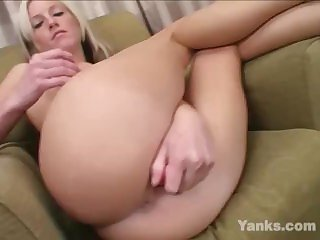 Yanks Blondie Tricia Oaks Plays With Her Toys