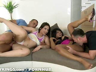 Reality Kings - Two twerking babes in foursome