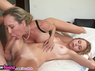 Moms Bang Teens - Brandi Love teach young couple