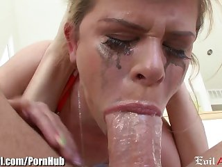 EvilAngel Sloppy Gagging Deepthroat POV